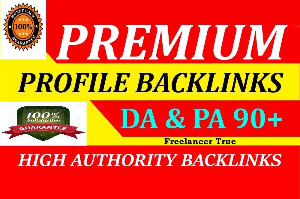manually create 50 dofollow profile backlinks,  high da 90 plus