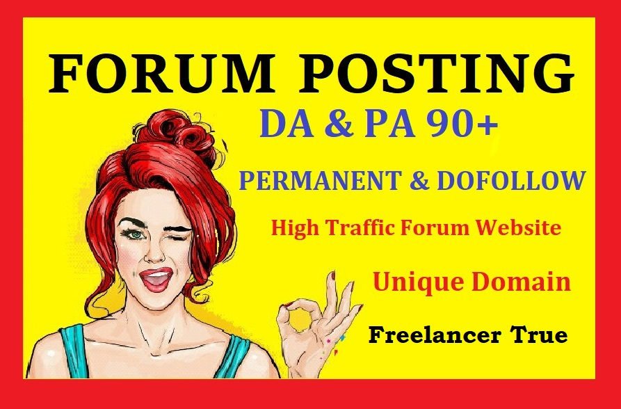 create high quality and high authority forum posting backlinks