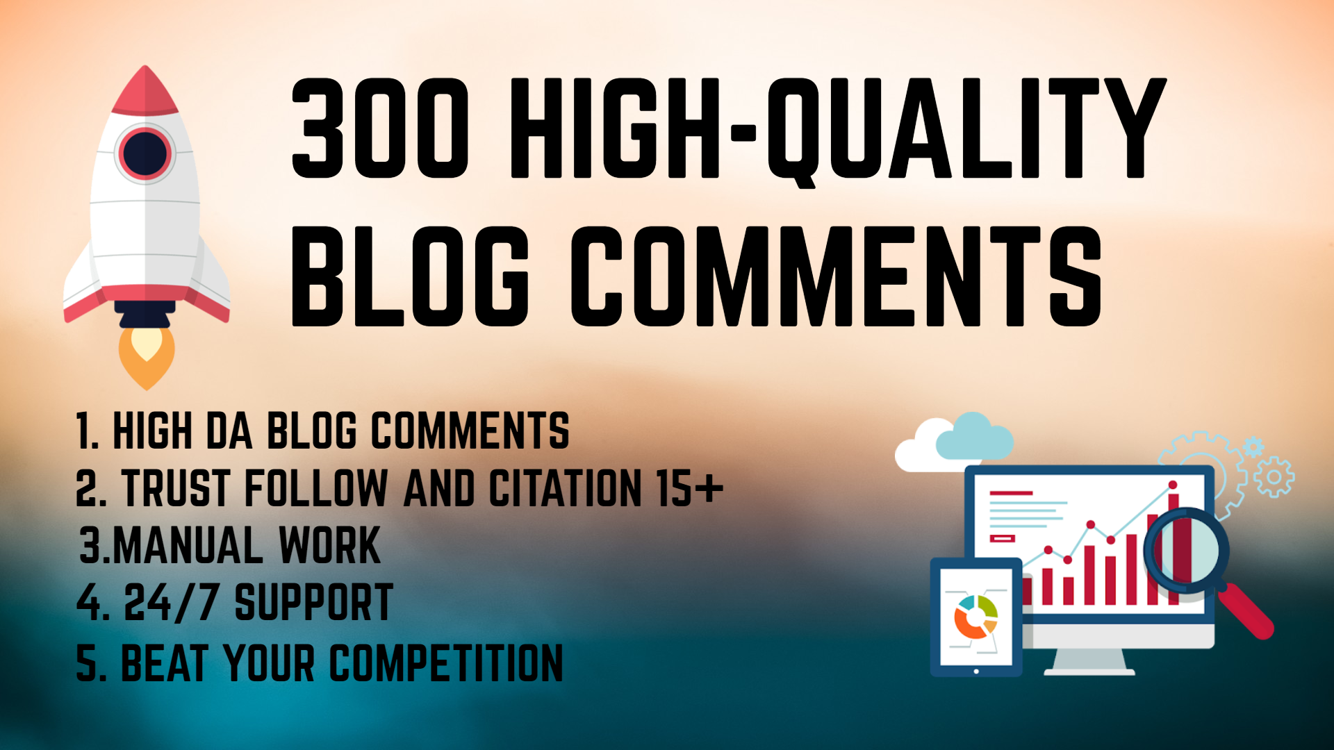 I will provide 300 high quality manual blog comments seo backlinks