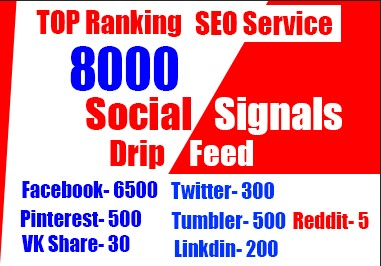 8000 Social Signals for Boosting your website and YouTube in Google naturally