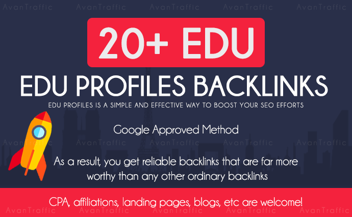 Build 20 Edu/GOV high quality backlinks improves SEO in 2020