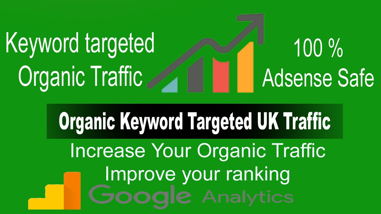 Adsense Safe UK Traffic,  UK Keyword Targeted Traffic from Google for 30 Days