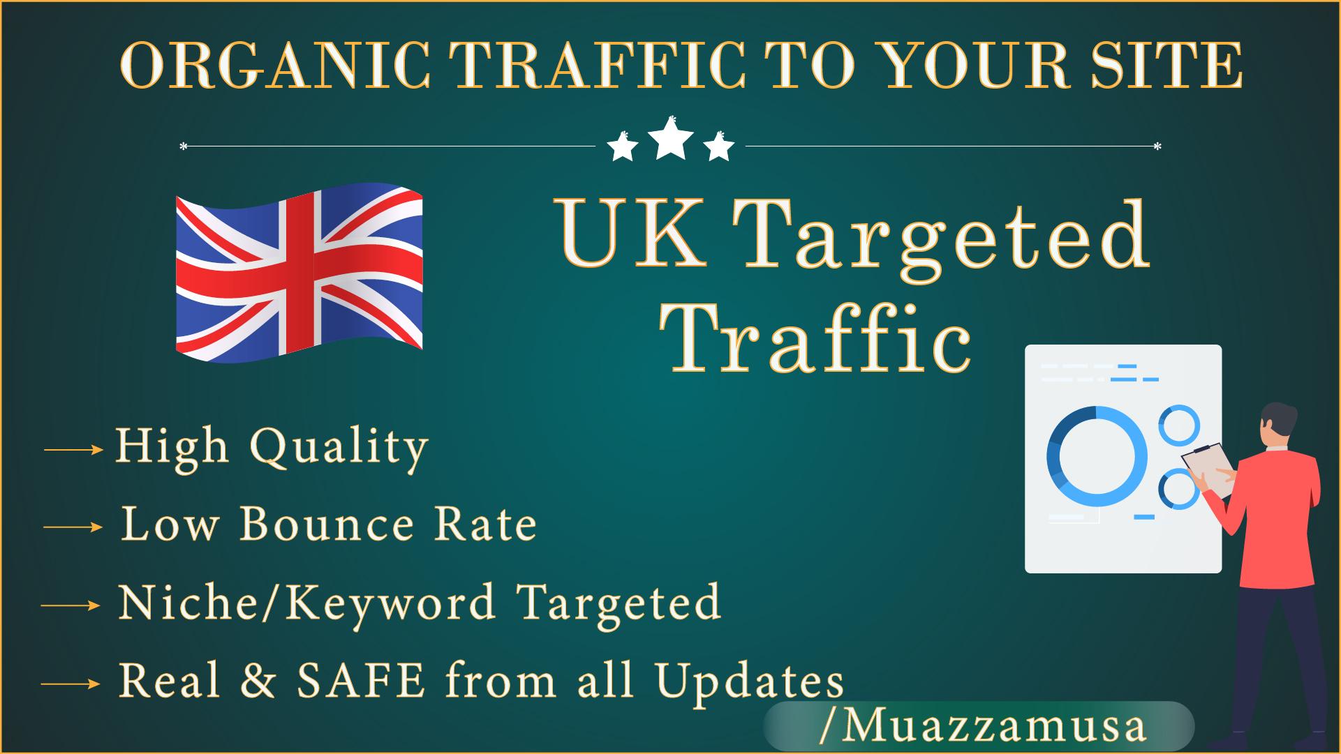 UK Google Keyword Targeted Traffic for 30 Days