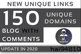 i will provide 150 unique domains blog comment