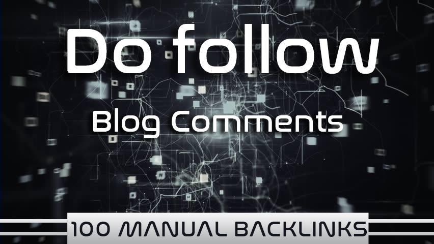 i provide manual backlink blog comment