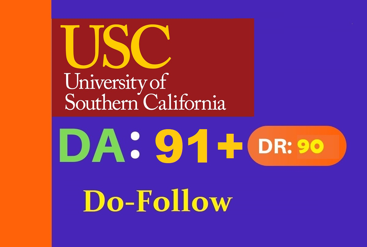 publish a guest post on usc edu DA 91