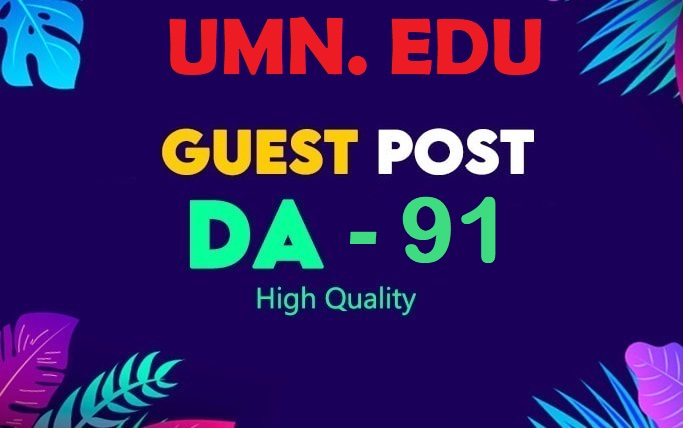 publish a guest post on umn. edu DA91