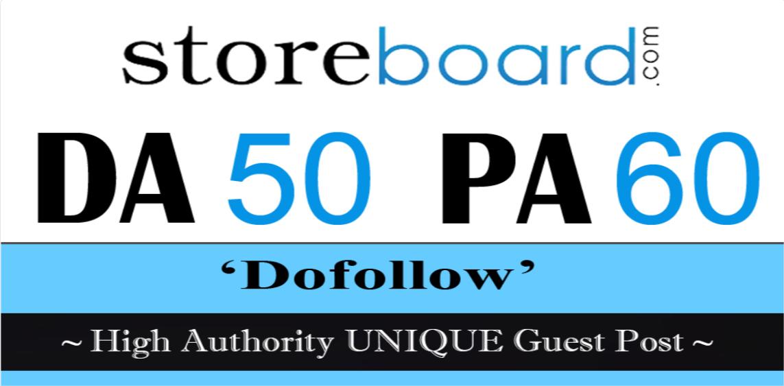 publish a guest post on storeboard DA 50