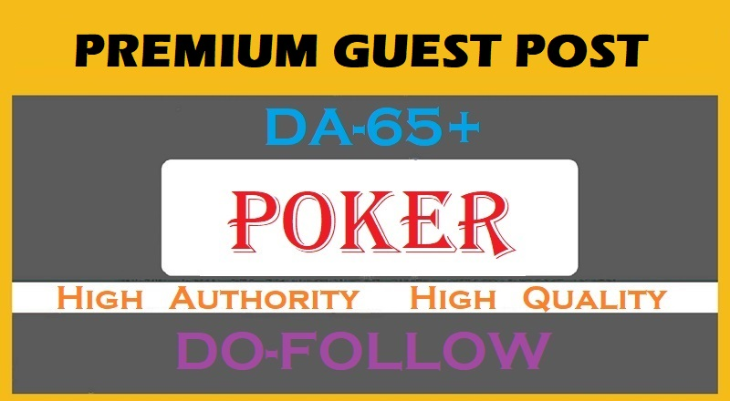 I will publish your guest post on my poker da 65 blog