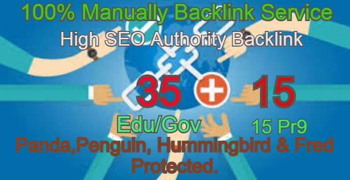 I Will Manually do 35 Edu/Guv + 15 Pr9 High DA PA Seo Profile Backlink- Skyroket your Google ranking