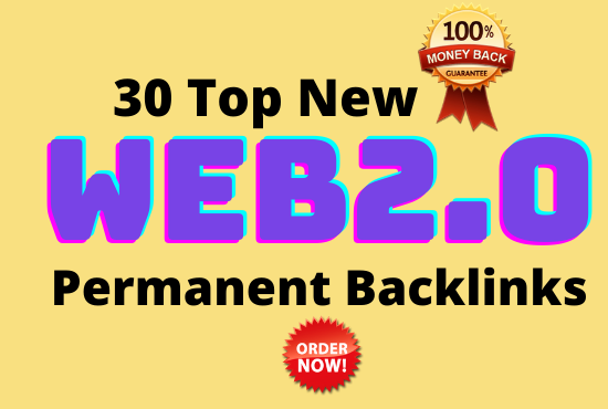 25 High Authority Web2.0 permanent Backlinks- DA 50 To 100 For Top Google Ranking