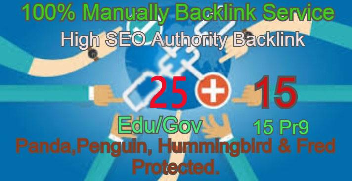 I Will Manually do 25 Edu/Guv + 15 Pr9 High DA PA Seo Profile Backlink- Skyroket your Google ranking