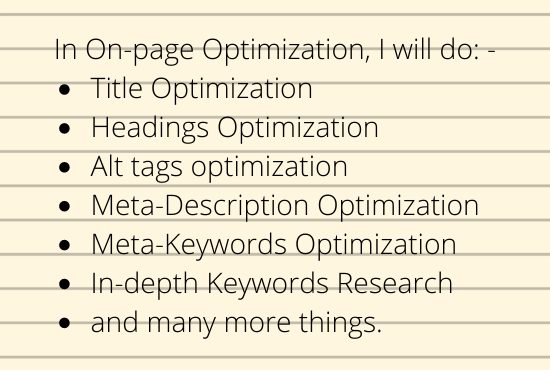 I will optimize 10 pages of your website with 5 competitor analysis