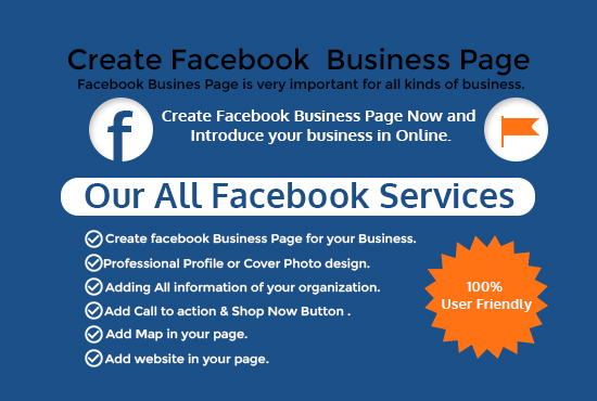 I can do create facebook business page