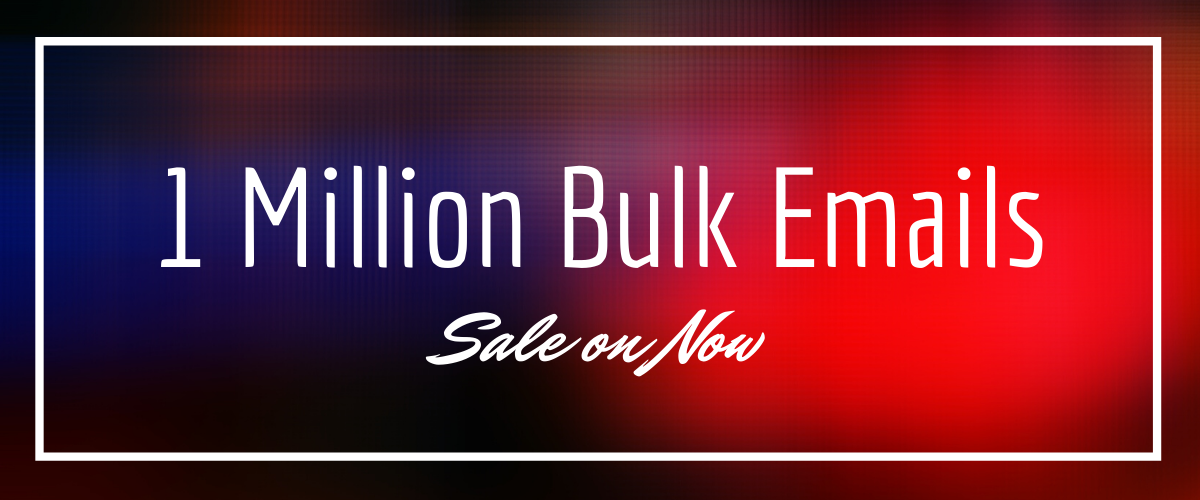 1 Million bulk email list for email marketing