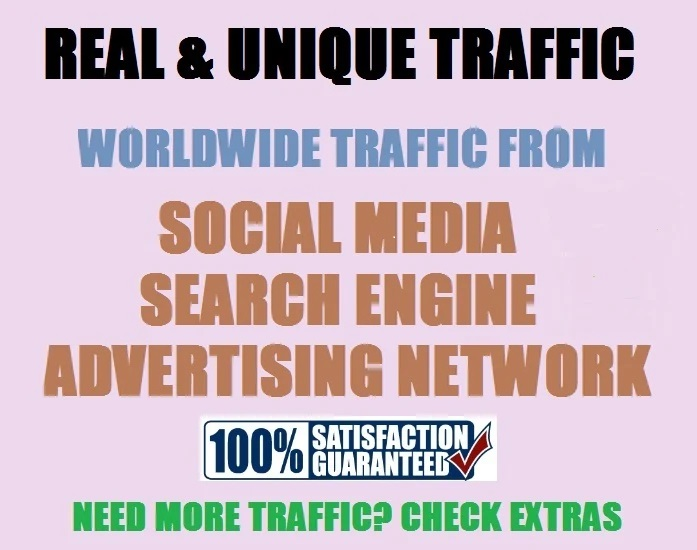 I will send 25,000 web traffic worldwide from search engine and social media