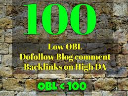 I will build 1oo low obl do follow blog comments backlinks on high DA