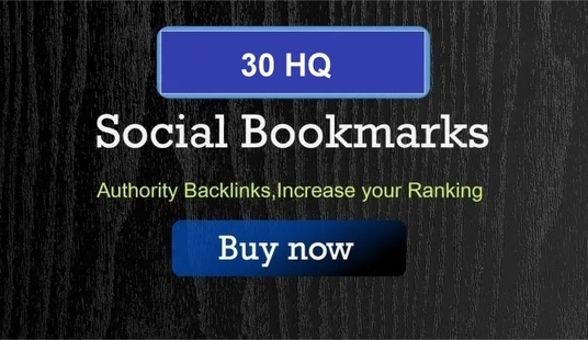 I will manually high quality 30 bookmarking of social sites for SEO ranking