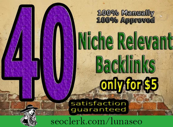 I will do 40 niche relevant blog comments nofollow backlink