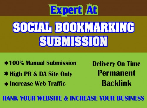 I will create manually high quality 25 bookmarking of social sites for SEO ranking