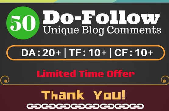 I will give high tf cf permanent dofollow blog comment backlinks for SEO