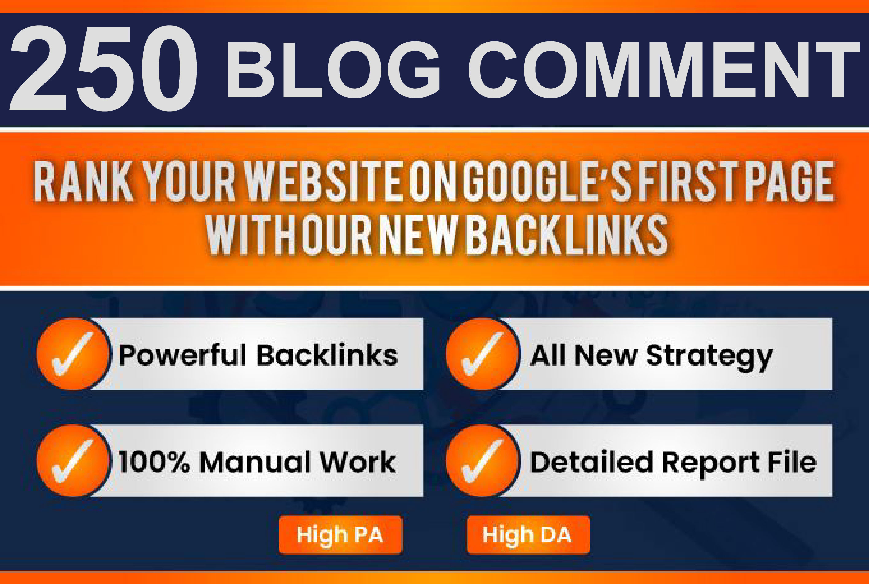 I will create 250 unique dofollow blog comments backlinks