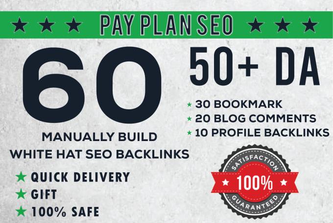 I will create 60 multi tier 50plus da backlinks