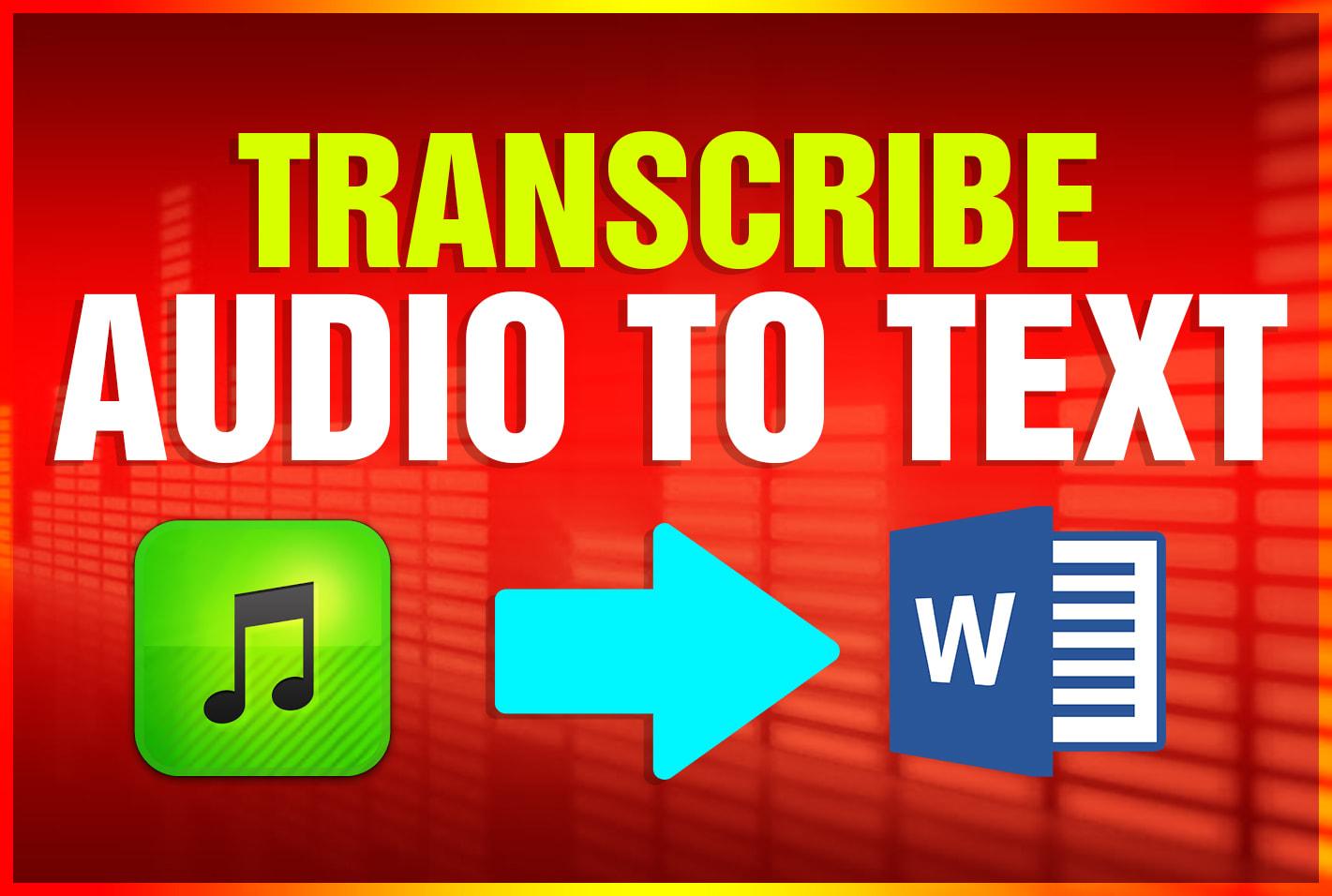 transcribe english audio to text