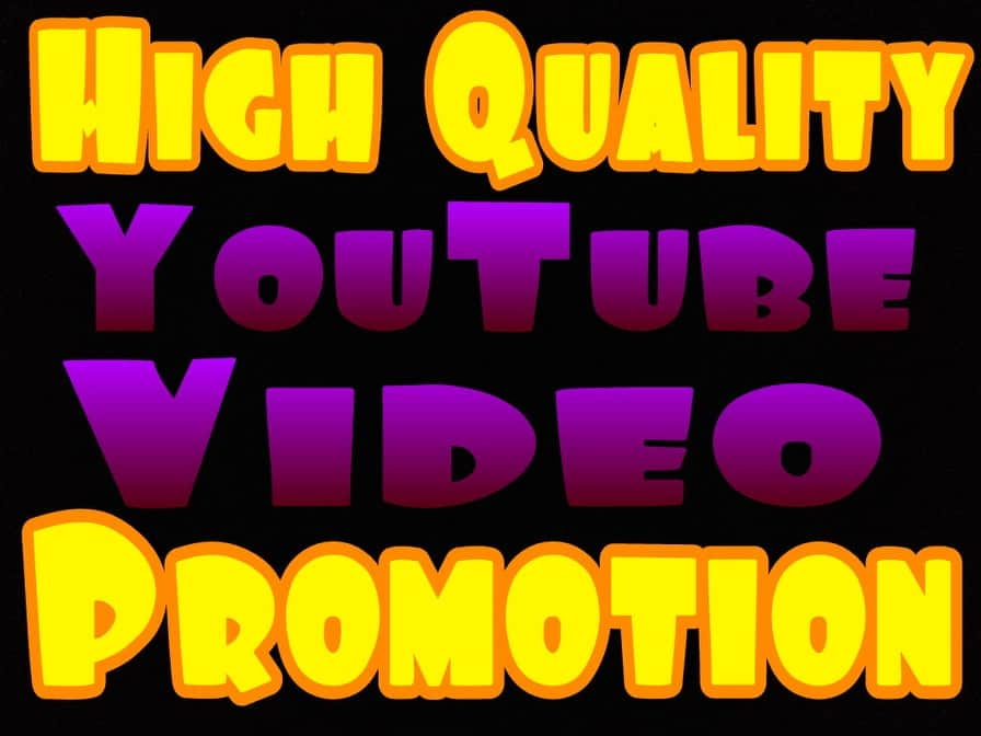 High quality Youtube video promotion with very fast delivery via real users