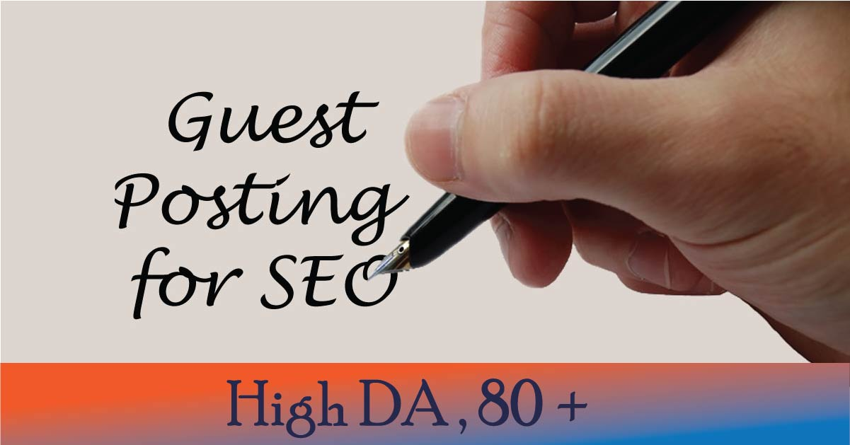 I will guest post da 80 site for backlinks