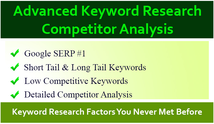 SEO keyword research and advanced competitor analysis