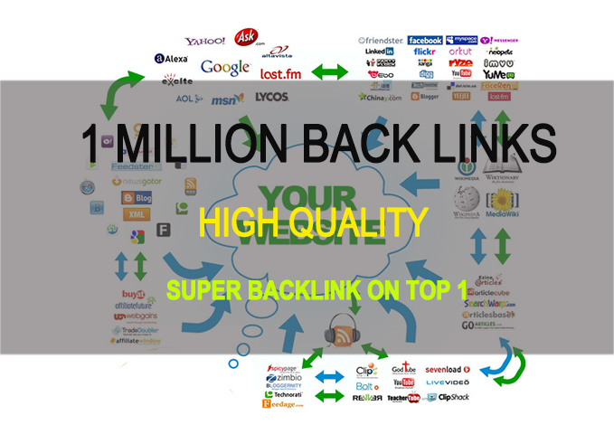 I will build 1 million high quality backlinks for Top 10 Google
