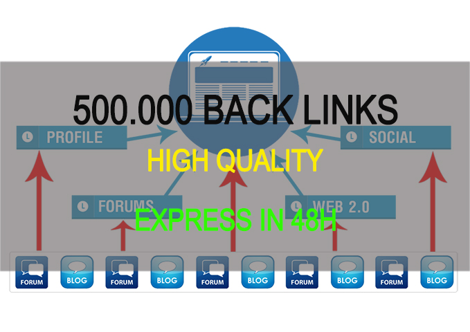 I will build 500.000 high quality backlinks for Top 10 Google express in 48h