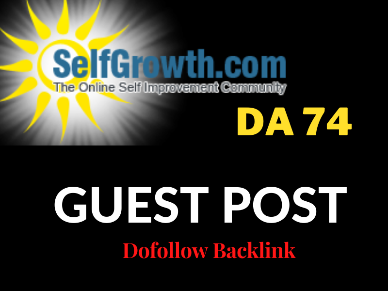 I will do guest post on DA 78 selfgrowth with dofollow backlinks