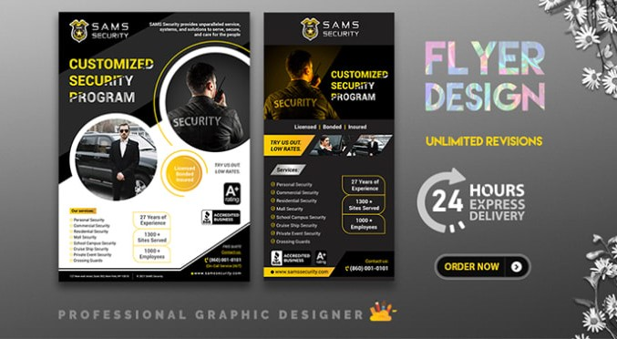 i will design professional business flyer in 24 hours