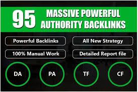 I will do manual 95 unique domain SEO backlinks on da100 sites