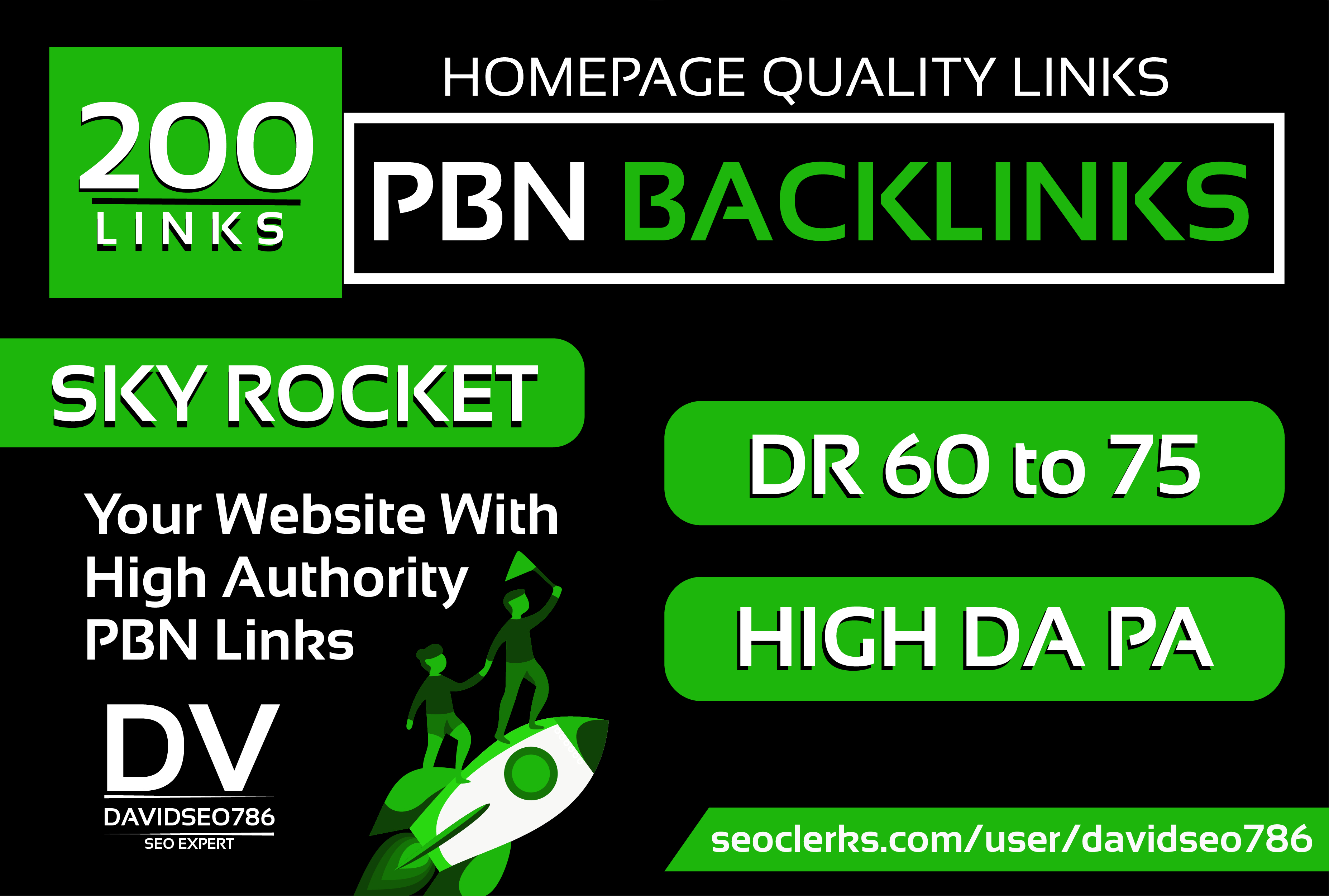 I will 200 PBN DR 60 to 75 Powerfull Homepage High Quality PBN Backlinks