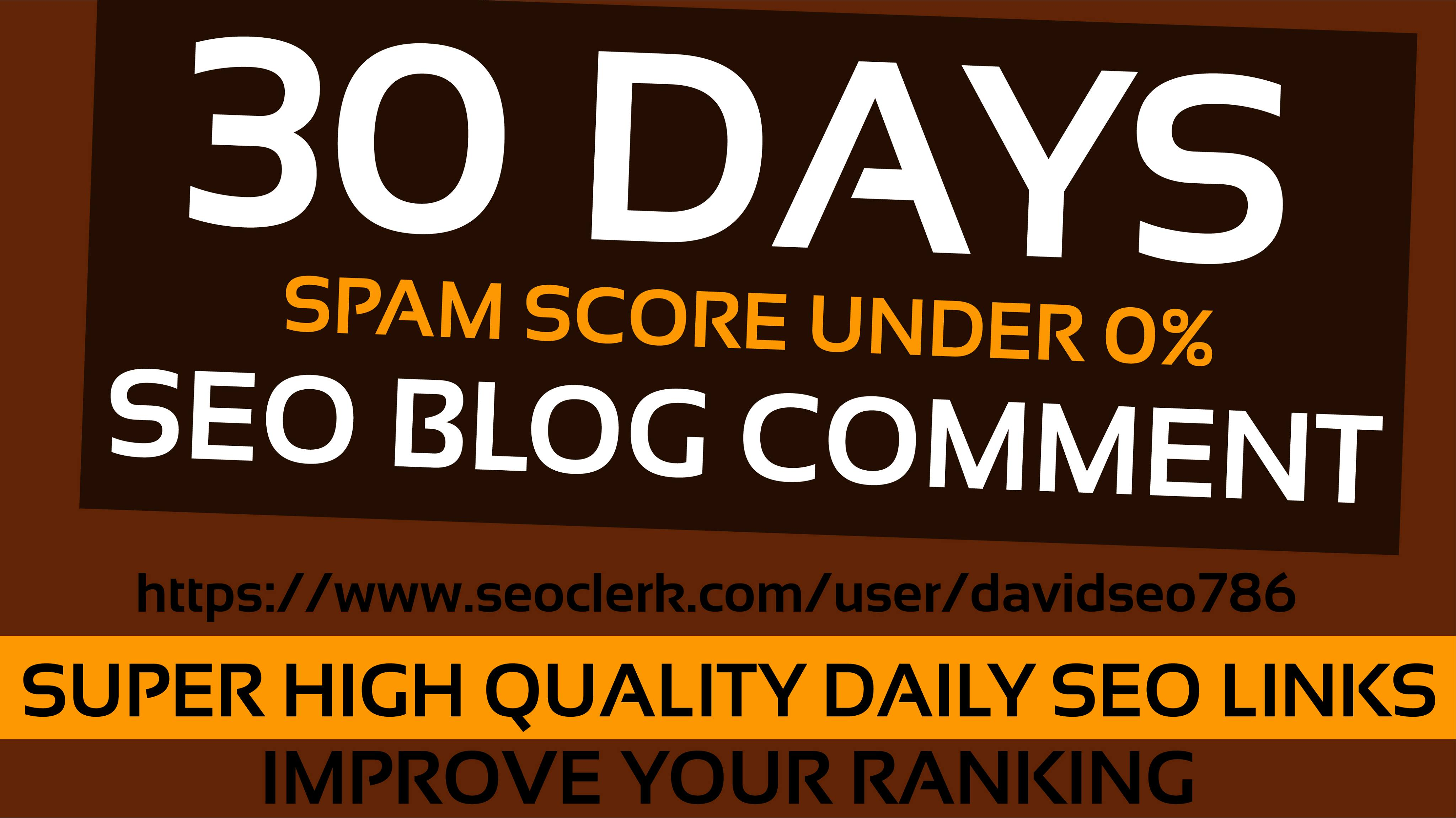I will do daily 20 dripfeed dofollow blog comment on 30 days with high da pa