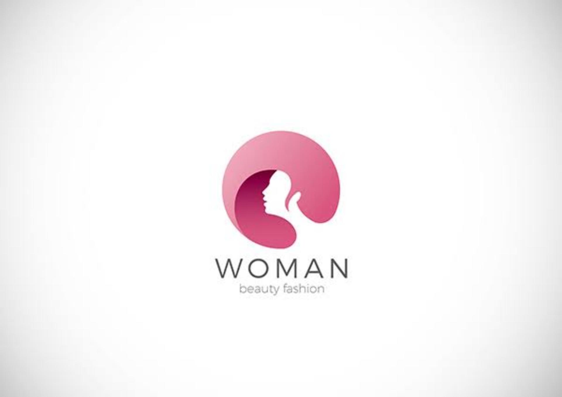 professional woman beauty fashion logo
