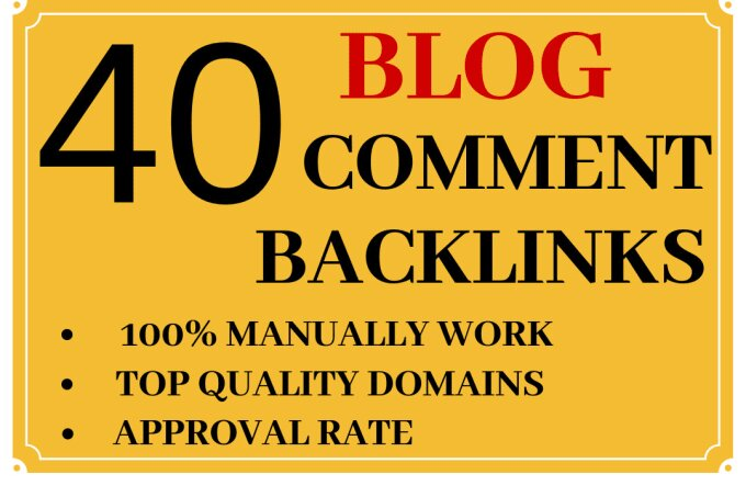I will do 40 dofollow blogcomment DA 20+