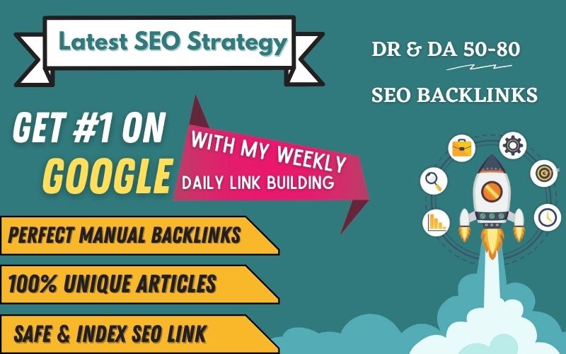 7 Days Manual SEO Backlinks - Skyrocket Your Website On Google - Weekly Backlinks Service