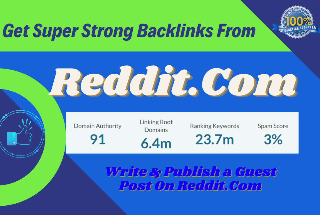 Write and publish a guest post in Reddit.Com