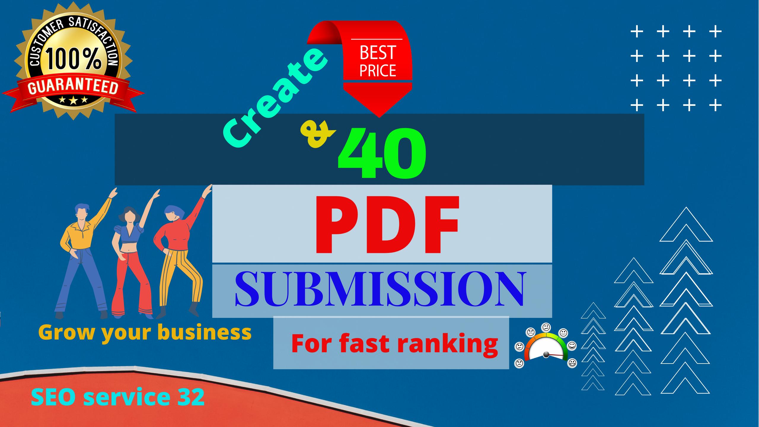 I will create and publish 40 PDF