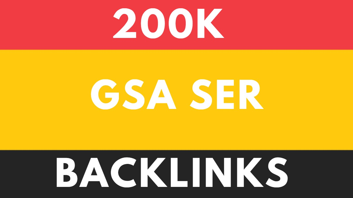 200K GSA SER Genuine and Unique Backlinks for SEO Service