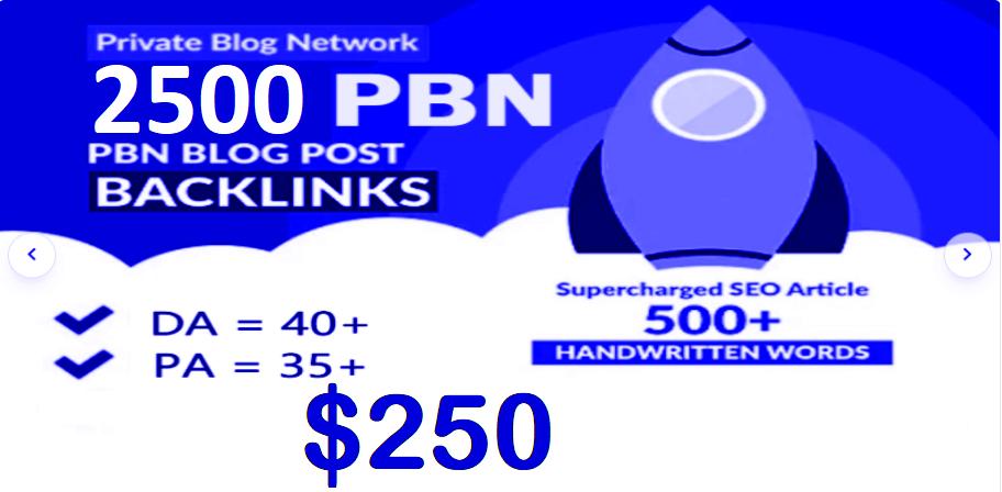 2500 Premium Homepage Web 2.0 PBN Service Manual Creating High Quality SEO Do-follow Backlinks
