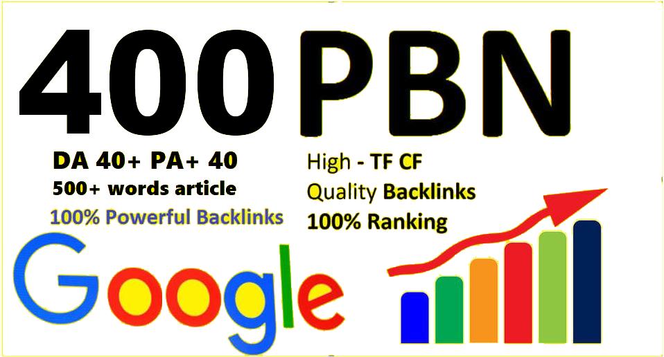 Unique 400 Sites Da 40 Pa 35 PR 5 Web 2.0 Pbn