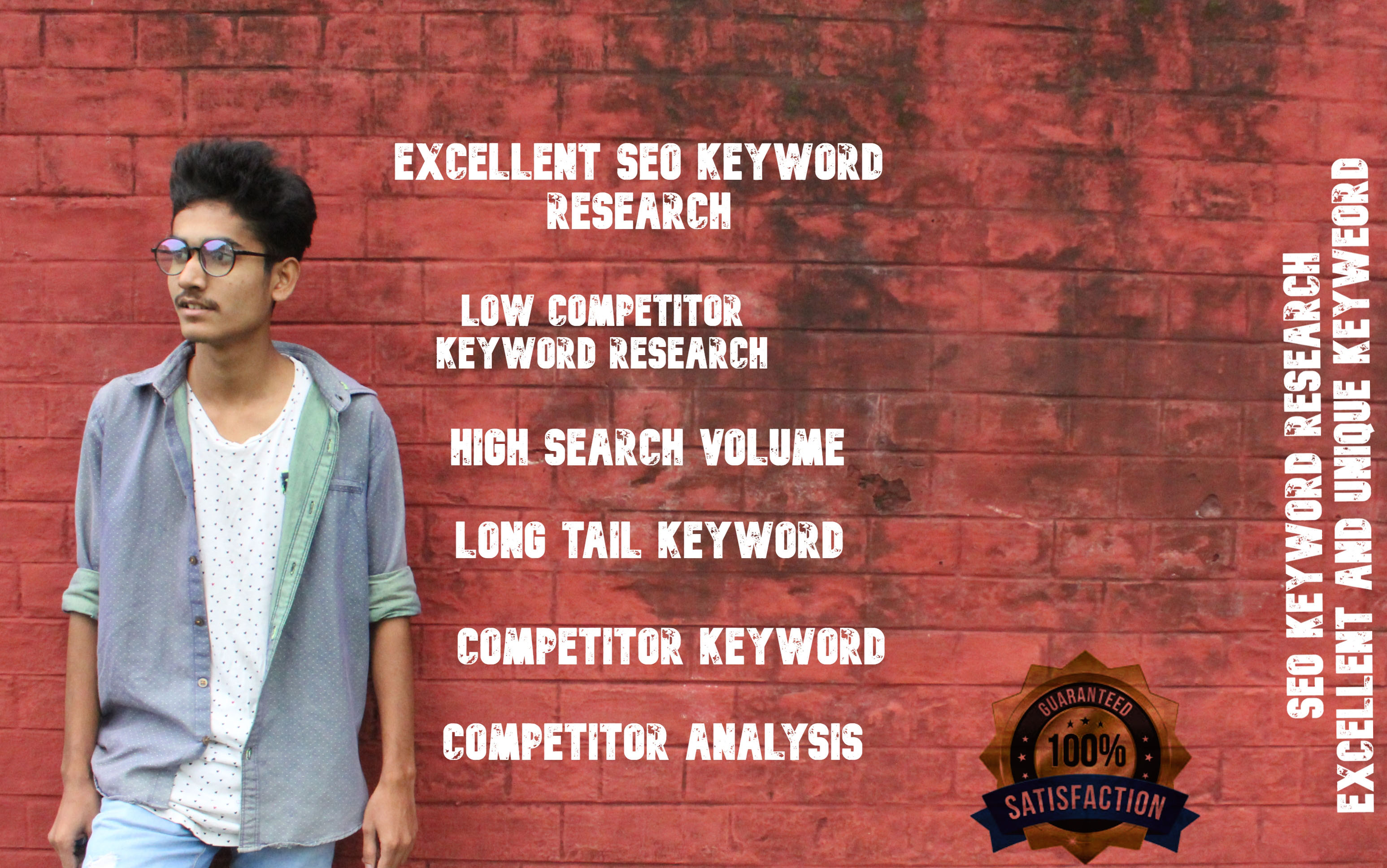 I will research excellent seo keyword and competitor analysis