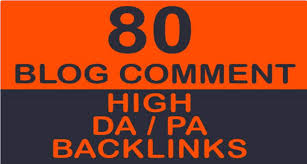 I Will do 80 blogcoments Dofollow high DA 30 plus backckIinks