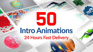 I will do 50 animation videos with your logo
