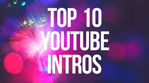 will create 10 youtube intro videos with free commercial license